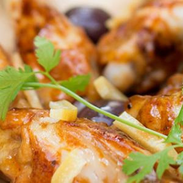 manchons-de-poulet-olives-citron-coriandre