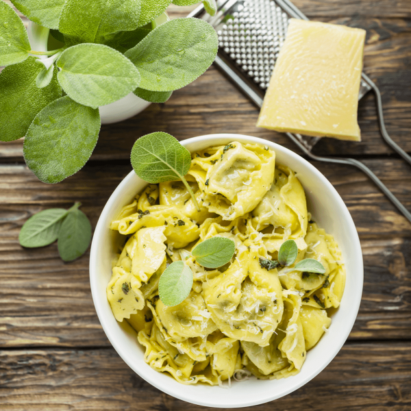 raviolis sauce basilic